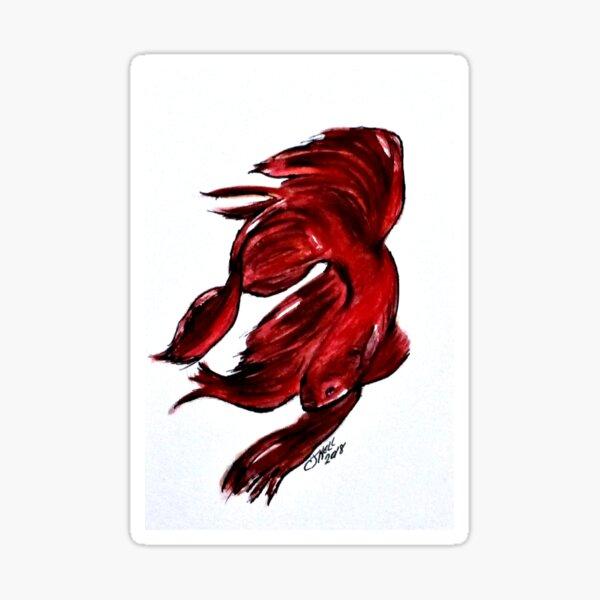 Art Doodle No. 36 Betta Fish Sticker