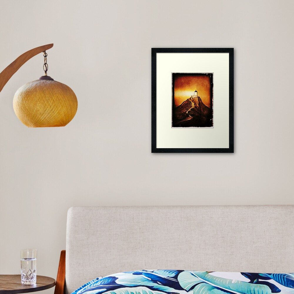 Keeper Of The Light Framed Art Print