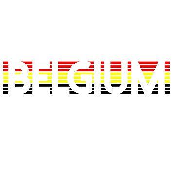 Belgian Flag Design 6 by BOBSMITHHHHH
