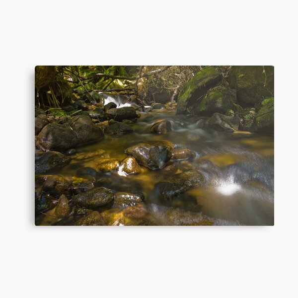 River Pebbles Metal Print
