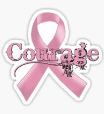 Courage Pink Ribbon Sticker