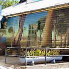 Australiana on Weatherboard by Marilyn Harris