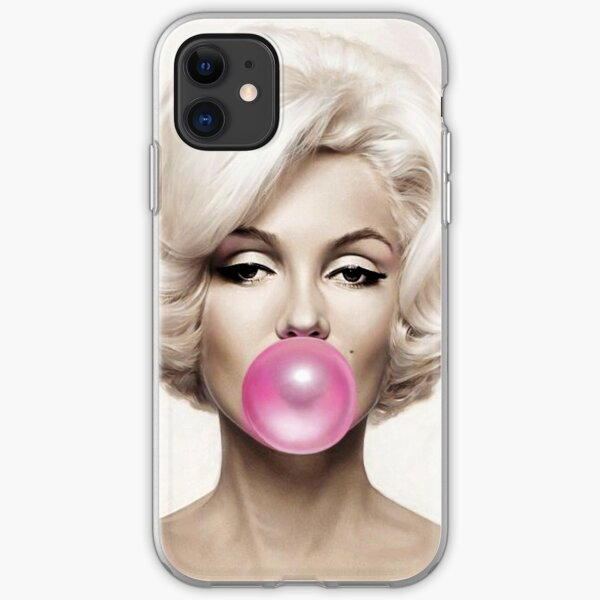 marilyn monroe Pink Gum iPhone Soft Case