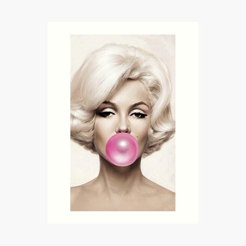marilyn monroe Pink Gum Art Print