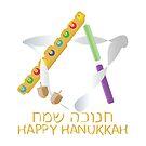 Hanukkah jewish holiday greeting by sigdesign