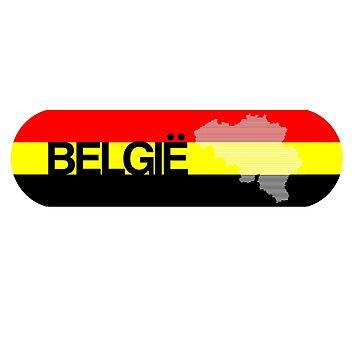 Belgian Flag Design 7 by BOBSMITHHHHH