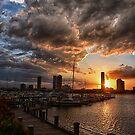 Sunset at Marina Mirage by andreisky