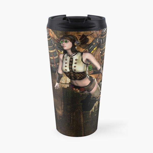 Girl Gothic steampunk  Travel Mug