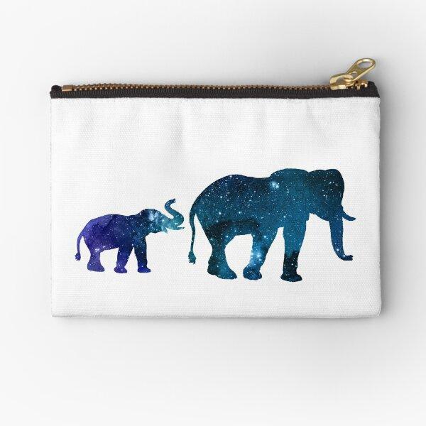 Elephant & Calf Zipper Pouch