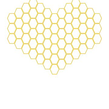 Honeycomb Heart - Bee Beekeeper Gift by DVIS