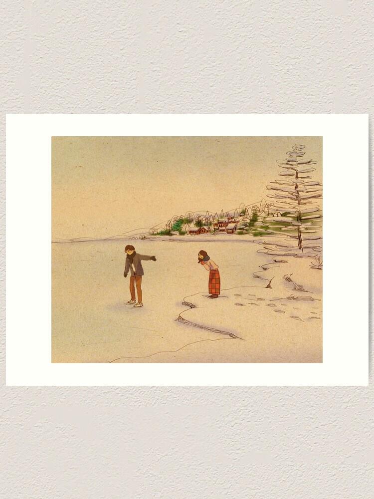 Alternate view of Last winter Art Print