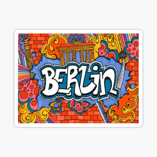 Berlin Street Art Sticker