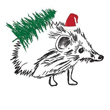 Cute Santa Hedgehog by Manitarka