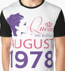It's My Birthday 40. Made In August 1978. 1978 Gift Ideas. Graphic T-Shirt
