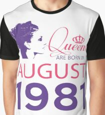 It's My Birthday 37. Made In August 1981. 1981 Gift Ideas. Graphic T-Shirt