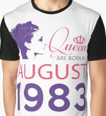 It's My Birthday 35. Made In August 1983. 1983 Gift Ideas. Graphic T-Shirt