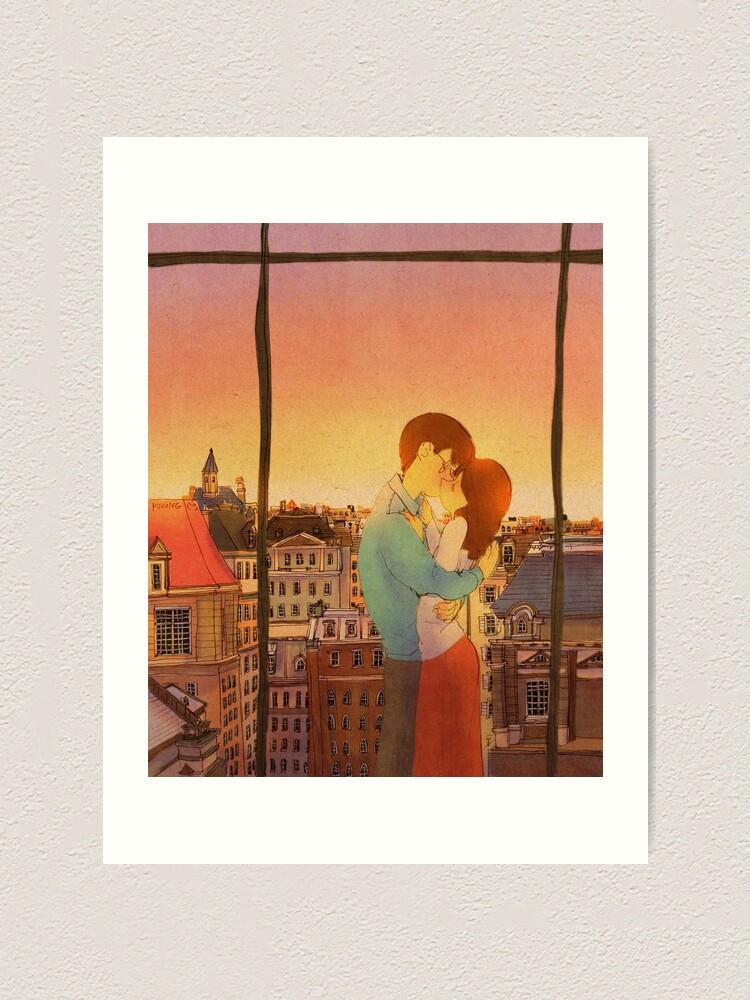 Alternate view of Romantic kiss Art Print