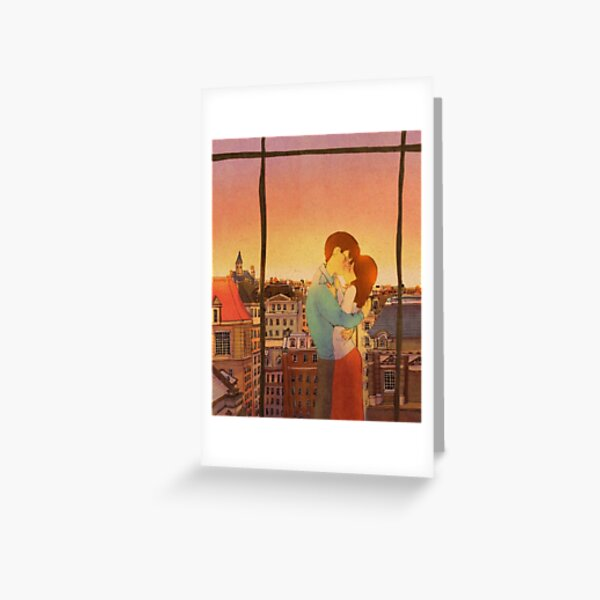 Romantic kiss Greeting Card