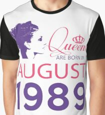 It's My Birthday 29. Made In August 1989. 1989 Gift Ideas. Graphic T-Shirt