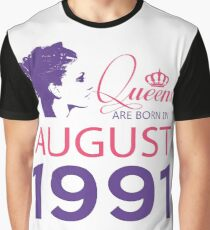 It's My Birthday 27. Made In August 1991. 1991 Gift Ideas. Graphic T-Shirt