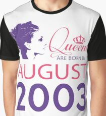 It's My Birthday 15. Made In August 2003. 2003 Gift Ideas. Graphic T-Shirt