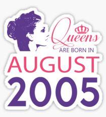 It's My Birthday 13. Made In August 2005. 2005 Gift Ideas. Sticker