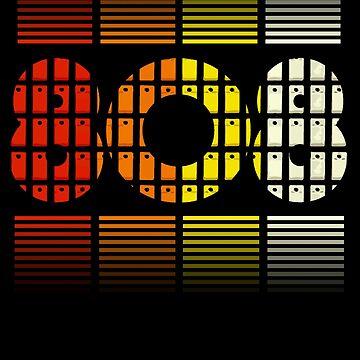 808 Drum Machine Pattern Steps Colors by mewzeek-T