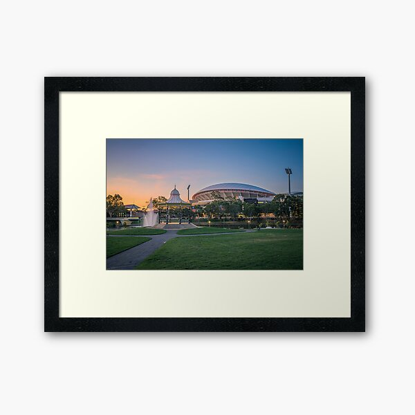 Torrens Sunset Framed Art Print