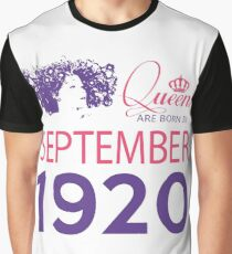 It's My Birthday 98. Made In September 1920. 1920 Gift Ideas. Graphic T-Shirt