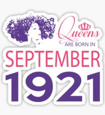 It's My Birthday 97. Made In September 1921. 1921 Gift Ideas. Sticker