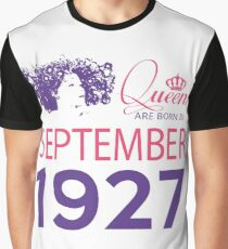 It's My Birthday 91. Made In September 1927. 1927 Gift Ideas. Graphic T-Shirt