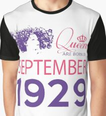 It's My Birthday 89. Made In September 1929. 1929 Gift Ideas. Graphic T-Shirt