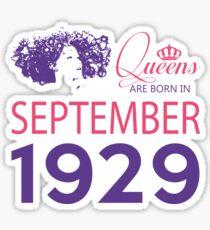 It's My Birthday 89. Made In September 1929. 1929 Gift Ideas. Sticker