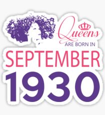 It's My Birthday 88. Made In September 1930. 1930 Gift Ideas. Sticker