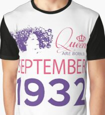 It's My Birthday 86. Made In September 1932. 1932 Gift Ideas. Graphic T-Shirt