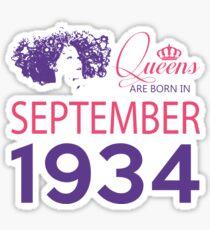 It's My Birthday 84. Made In September 1934. 1934 Gift Ideas. Sticker