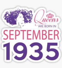 It's My Birthday 83. Made In September 1935. 1935 Gift Ideas. Sticker