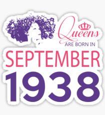 It's My Birthday 80. Made In September 1938. 1938 Gift Ideas. Sticker