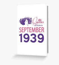 It's My Birthday 79. Made In September 1939. 1939 Gift Ideas. Greeting Card