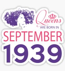 It's My Birthday 79. Made In September 1939. 1939 Gift Ideas. Sticker