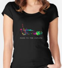 Delorean colors. Women's Fitted Scoop T-Shirt