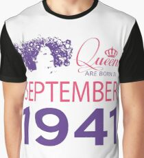 It's My Birthday 77. Made In September 1941. 1941 Gift Ideas. Graphic T-Shirt