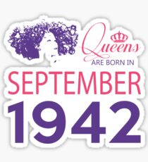 It's My Birthday 76. Made In September 1942. 1942 Gift Ideas. Sticker