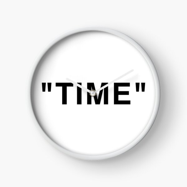 """""""Time"""" Quotation Marks Clock"""