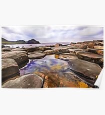 The Giant's Causeway, Ireland. (Painting) Poster