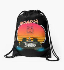 Roads? Delorean. Drawstring Bag