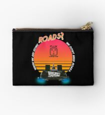 Roads? Delorean. Studio Pouch