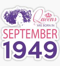 It's My Birthday 69. Made In September 1949. 1949 Gift Ideas. Sticker