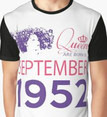 It's My Birthday 66. Made In September 1952. 1952 Gift Ideas. Graphic T-Shirt