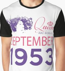 It's My Birthday 65. Made In September 1953. 1953 Gift Ideas. Graphic T-Shirt